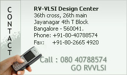 RV-VLSI Design Center , 36th cross , 26th main , jayanagar 4th block.